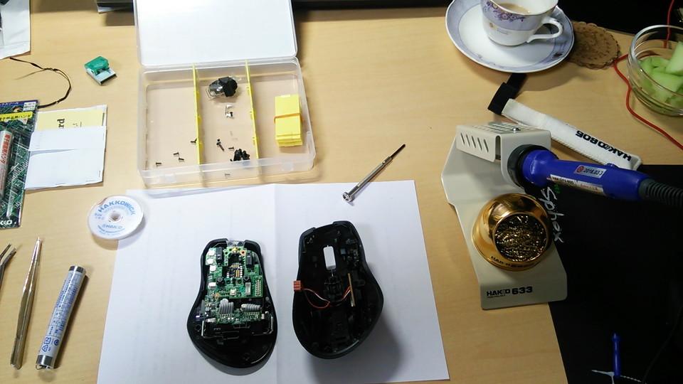 G700Sスイッチ交換中